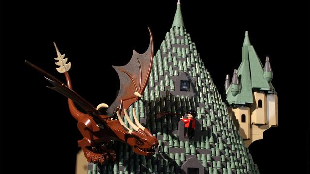 レゴで出来たハリーポッターのホグワーツ城5