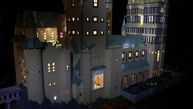 レゴで出来たハリーポッターのホグワーツ城8