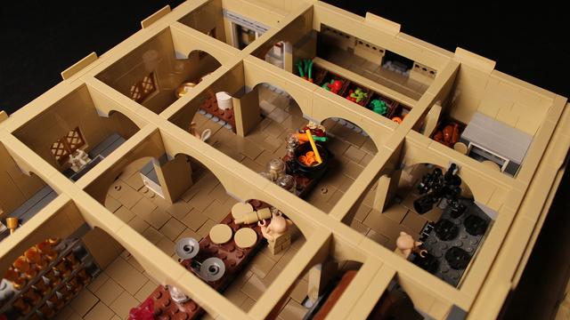 レゴで出来たハリーポッターのホグワーツ城24