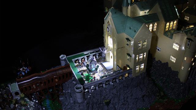 レゴで出来たハリーポッターのホグワーツ城11