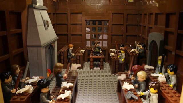 レゴで出来たハリーポッターのホグワーツ城15