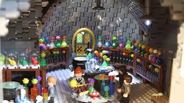 レゴで出来たハリーポッターのホグワーツ城16