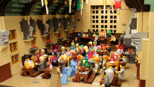 レゴで出来たハリーポッターのホグワーツ城