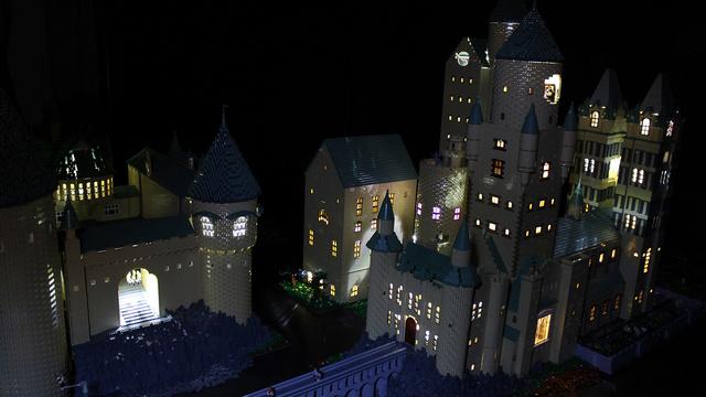 レゴで出来たハリーポッターのホグワーツ城2