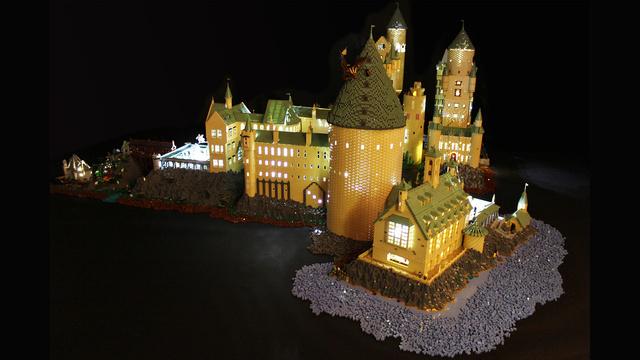 レゴで出来たハリーポッターのホグワーツ城4