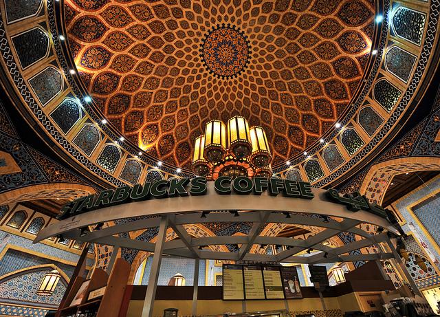 イブン・バトゥータ・モール(Ibn Battuta Mall)内の世界一美しいスターバックス4