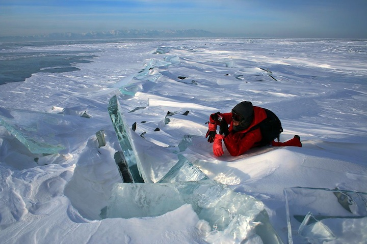 ロシアにある冬のバイカル湖3