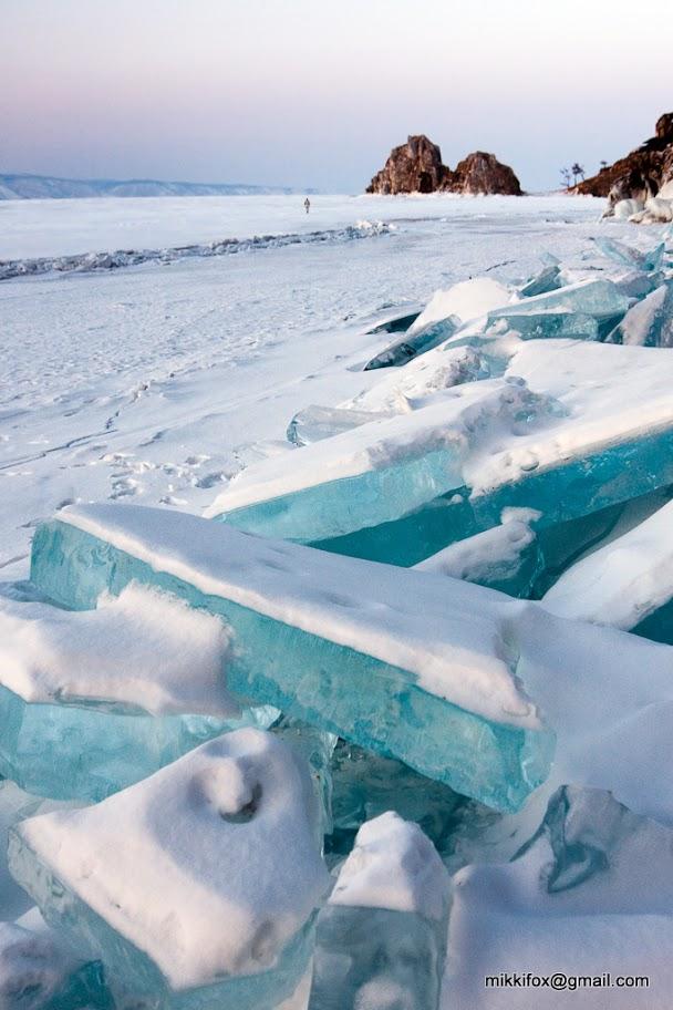 ロシアにある冬のバイカル湖5
