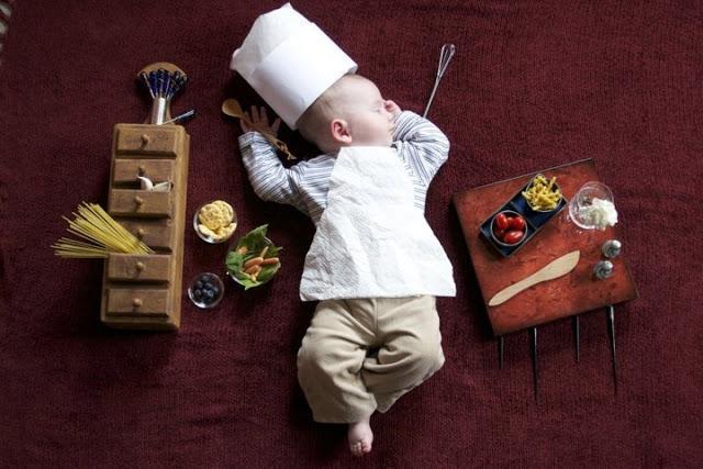 赤ちゃんの寝相(ねぞう)アート6