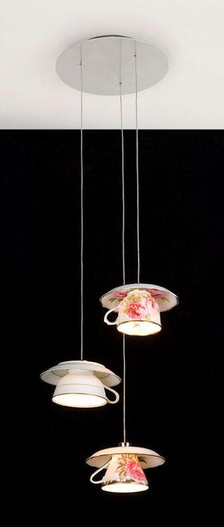 おしゃれなティーカップで出来た照明「Electric Mavis luminare」2