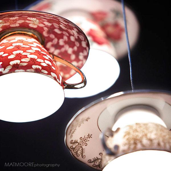 おしゃれなティーカップで出来た照明「Electric Mavis luminare」6