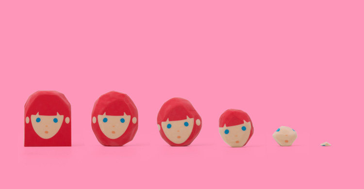 消すことで髪の毛を整えていく消しゴムHair-cut Eraser5
