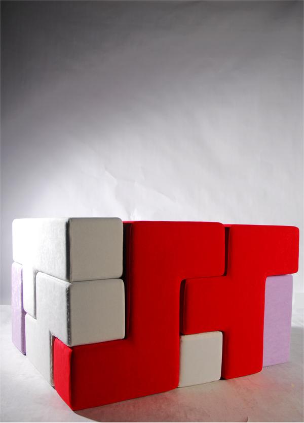 テトリスのように自由自在に組み立てることの出来る家具2