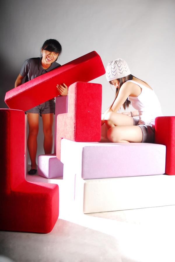 テトリスのように自由自在に組み立てることの出来る家具6