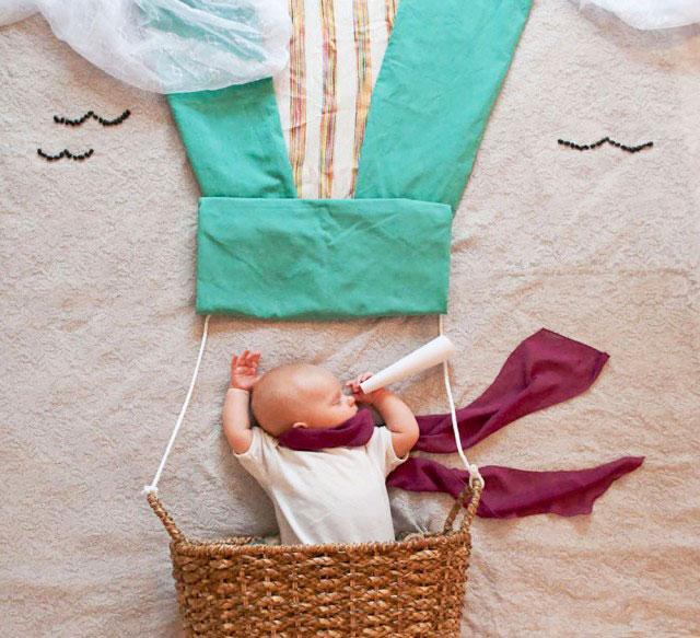 赤ちゃんの寝相(ねぞう)アート9
