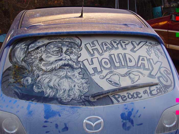 汚れた車に絵を描いた作品「Dirty Car Art」7