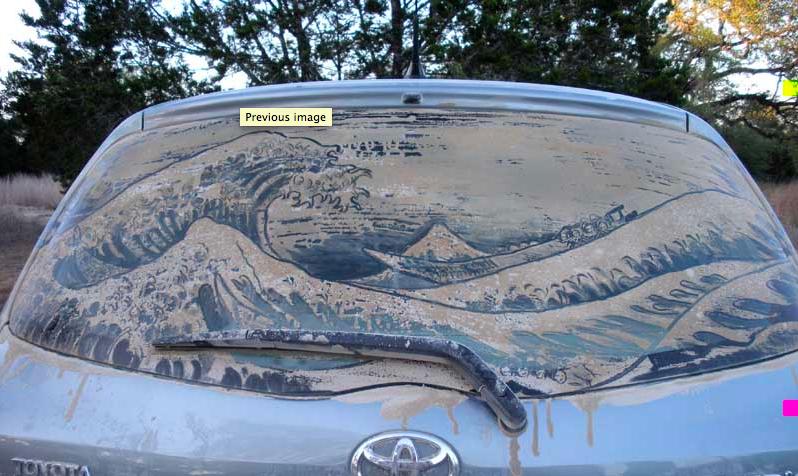 汚れた車に絵を描いた作品「Dirty Car Art」12