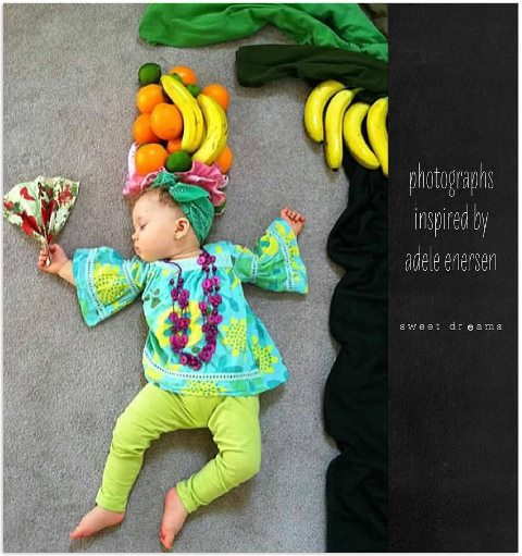 赤ちゃんの寝相(ねぞう)アート