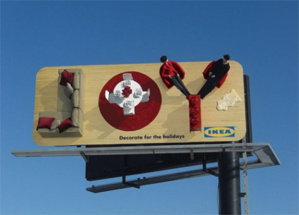 おもわず立ち止まってしまうクリエイティブな広告