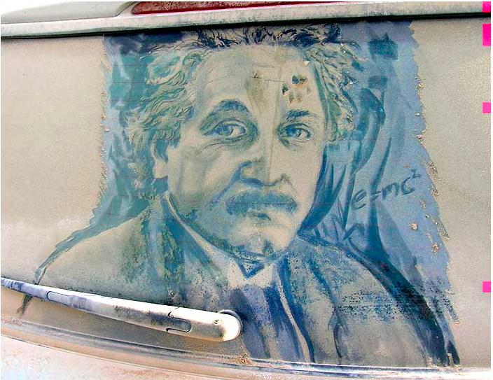 汚れた車に絵を描いた作品「Dirty Car Art」4