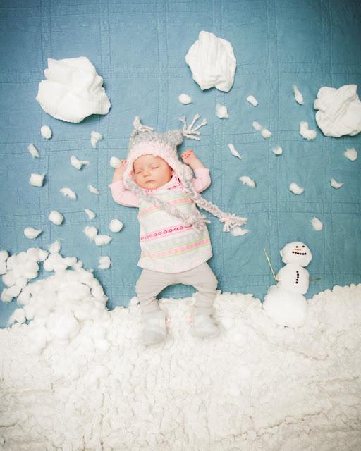 赤ちゃんの寝相(ねぞう)アート7
