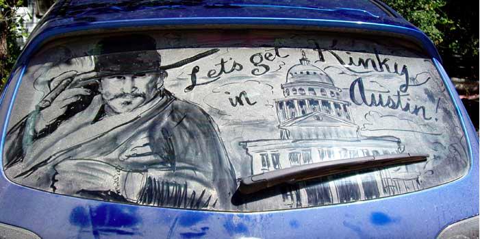 汚れた車に絵を描いた作品「Dirty Car Art」5