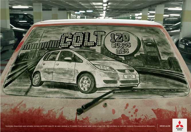 汚れた車に絵を描いた作品「Dirty Car Art」10