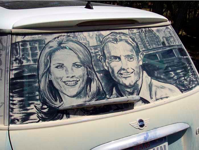 汚れた車に絵を描いた作品「Dirty Car Art」8