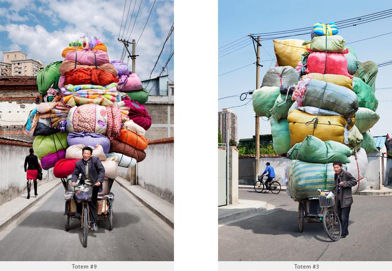 2009年から2010年に撮られた中国上海の出稼ぎ労働者の目を見張るほど素晴らしい光景。3