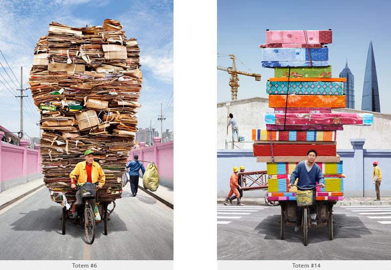 2009年から2010年に撮られた中国上海の出稼ぎ労働者の目を見張るほど素晴らしい光景。12