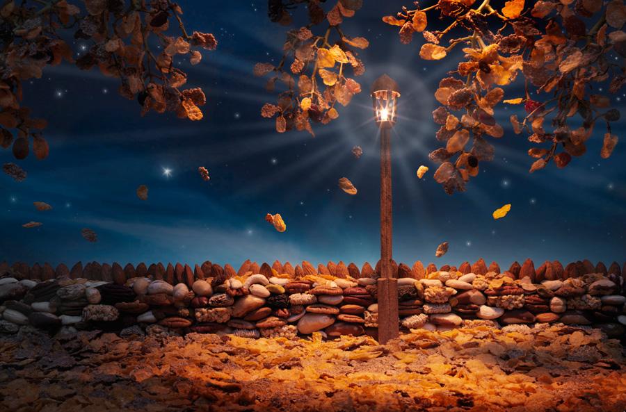 Autumn-Flakes すべて食べ物でつくった風景写真17