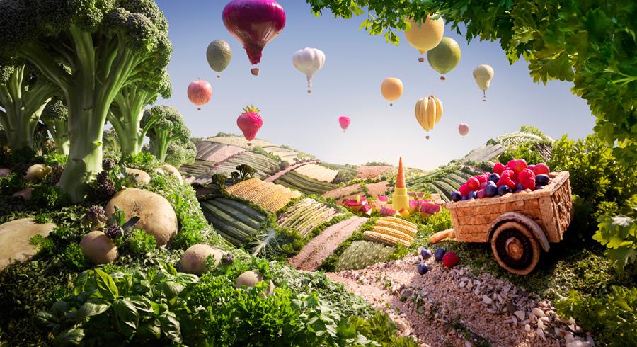 Cart-Balloons すべてが食べ物で出来ている風景画31