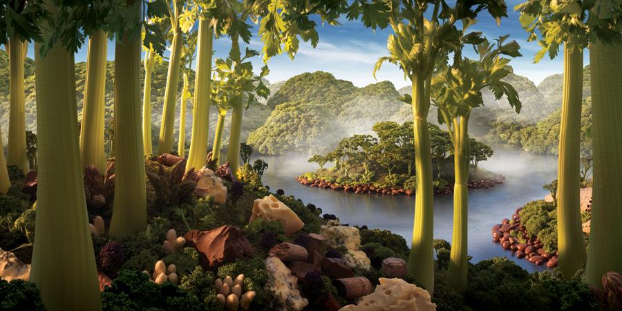 Celery-Island1 すべて食べ物でつくった風景写真8