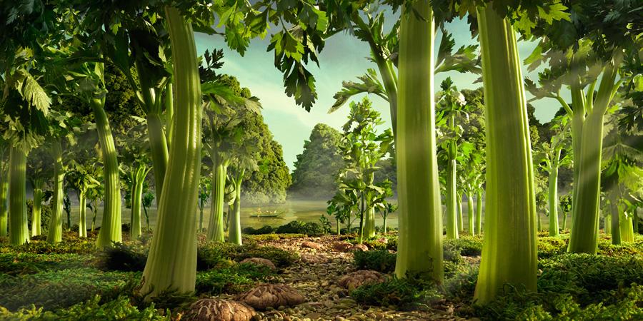 CeleryForest すべてが食べ物で出来ている風景画37