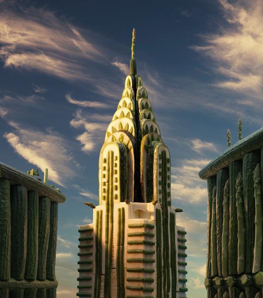 Chrysler-Building すべて食べ物でつくった風景写真15