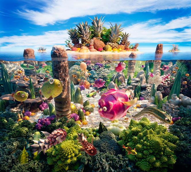 Coralscape すべてが食べ物で出来ている風景画32
