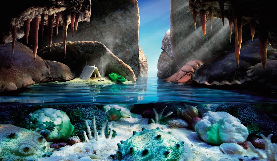 Crab-Cave すべてが食べ物で出来ている風景画35