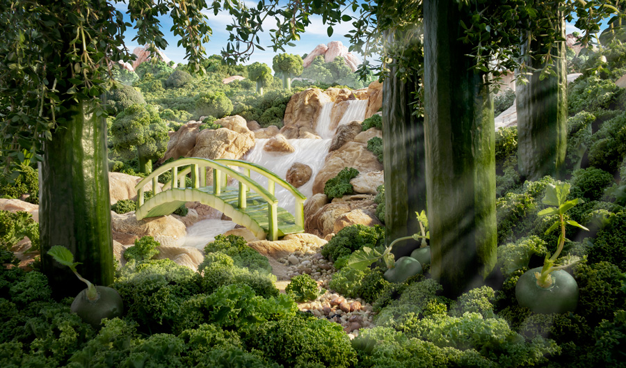 Cucumber-Bridge すべて食べ物でつくった風景写真2