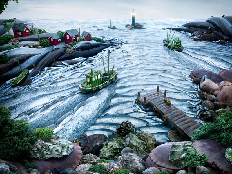 Fishcape-Landscape すべてが食べ物で出来ている風景画29