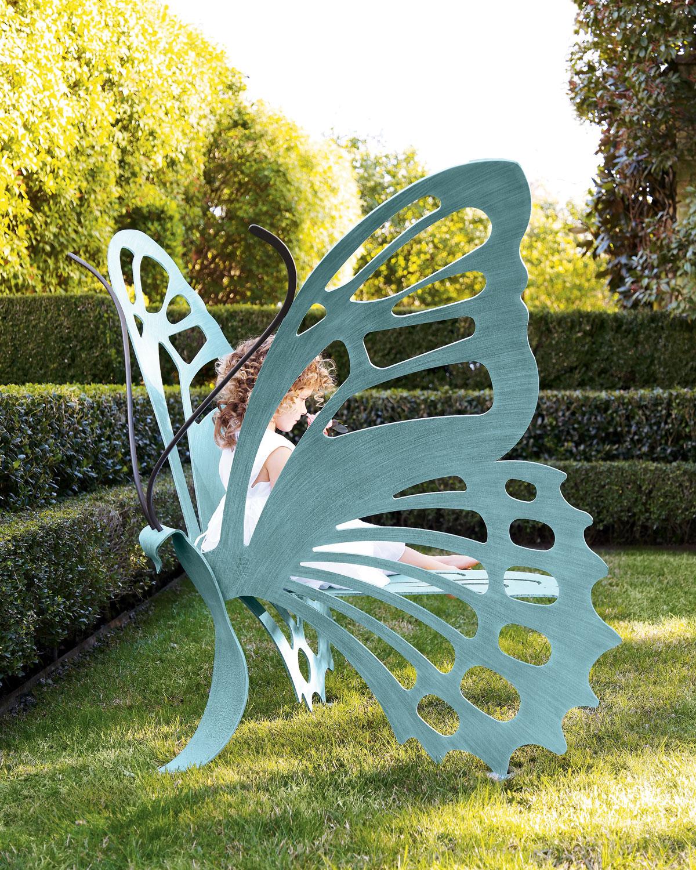 蝶のベンチ