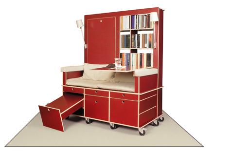 読書好きにはたまらない本棚と机とソファーが一体化になったソファー「Lese+Lebe」9