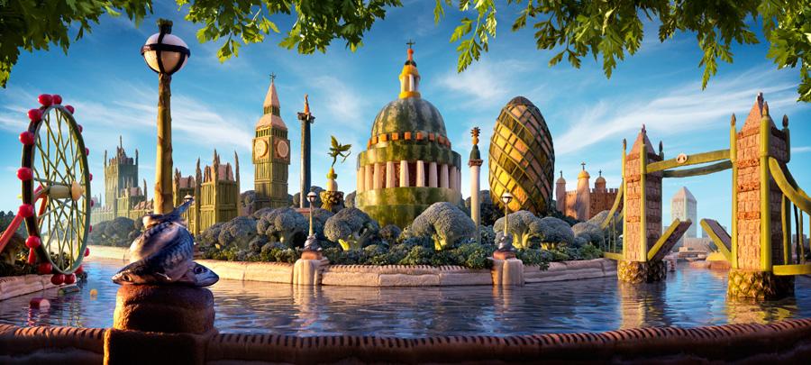 London-Skyline1 すべてが食べ物で出来ている風景画38