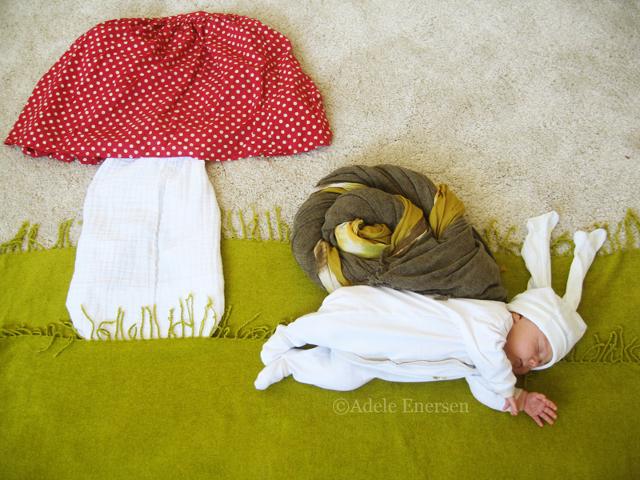 赤ちゃんの寝相(ねぞう)アート10