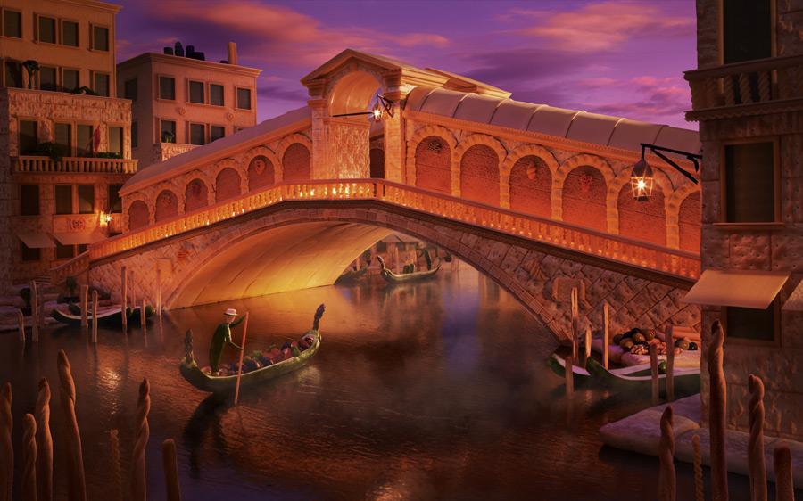 Rialto-Bridge すべてが食べ物で出来ている風景画19