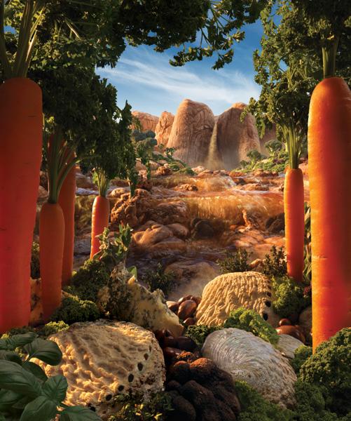 Truffle-Falls-Portrait すべて食べ物でつくった風景写真12