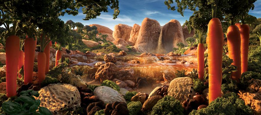 Truffle-Falls すべて食べ物でつくった風景写真11