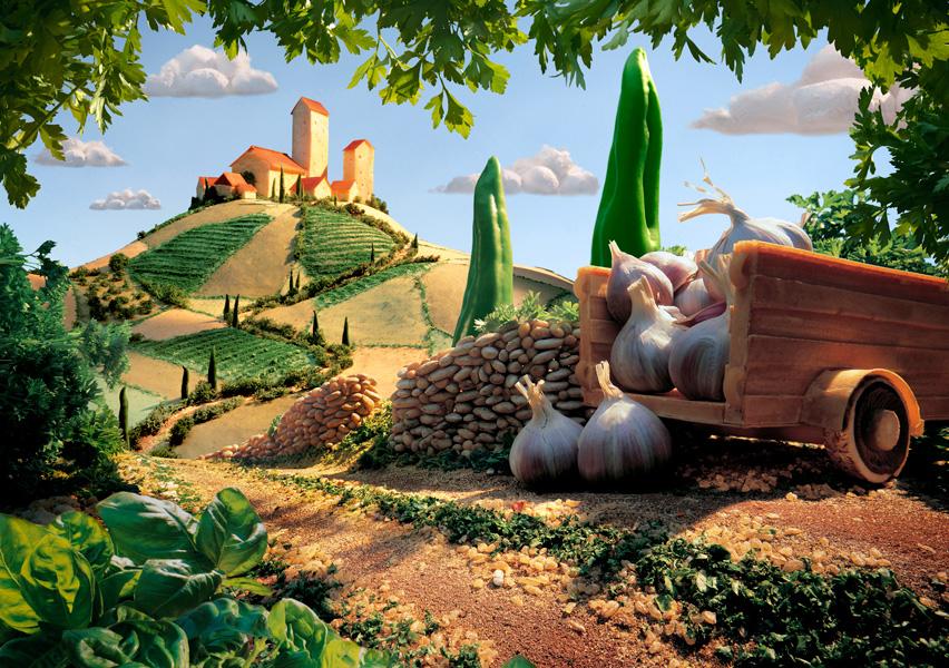 Tuscany-Landscape-small すべてが食べ物で出来ている風景画27