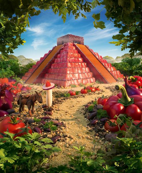 UB-Mayan-Temple1 すべてが食べ物で出来ている風景画39