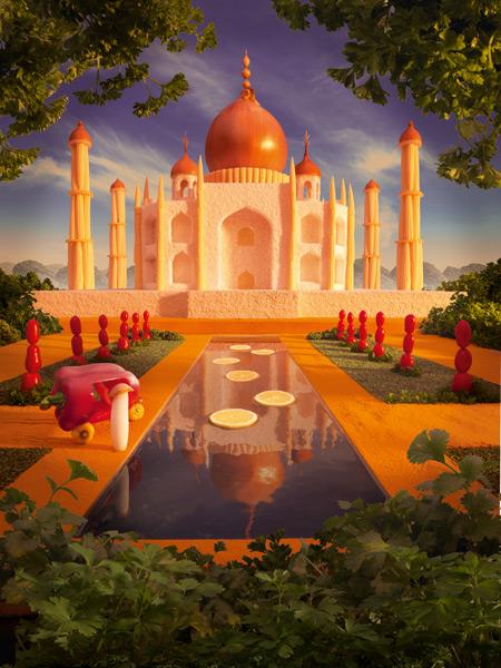UB-Taj-Mahal1 すべてが食べ物で出来ている風景画36