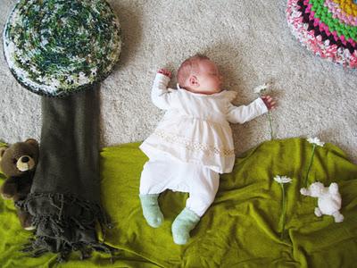 赤ちゃんの寝相(ねぞう)アート5